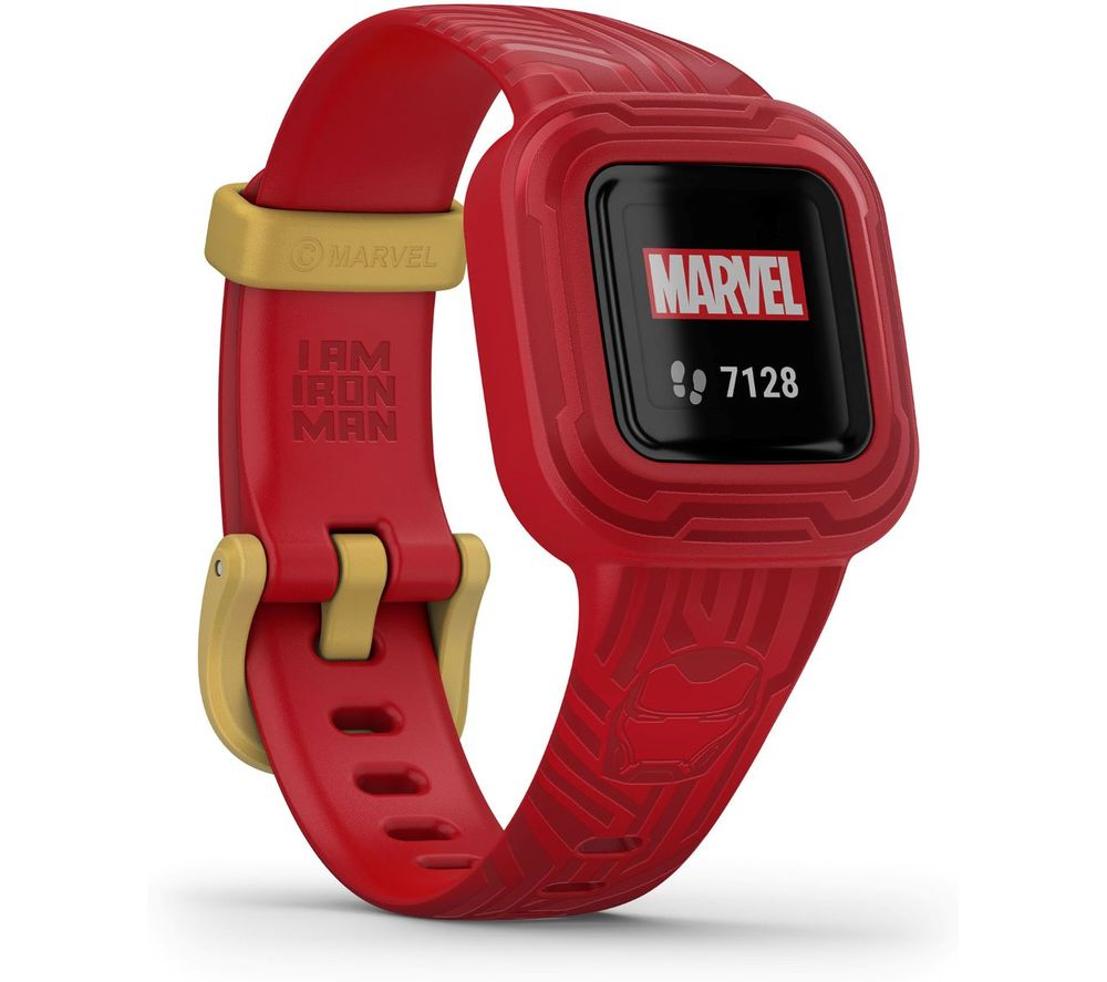 GARMIN vivofit jr. 3 Kid's Activity Tracker - Marvel Iron Man, Adjustable Band