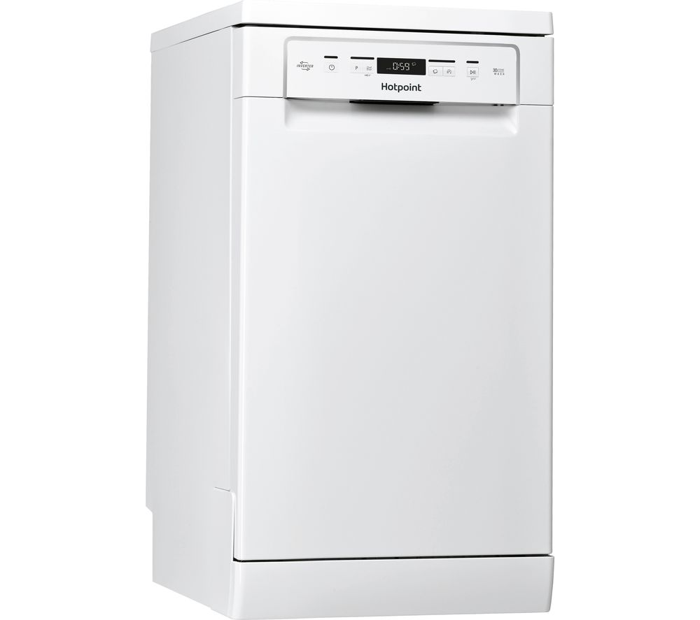HOTPOINT HSFC 3M19 C UK N Slimline Dishwasher - White, White