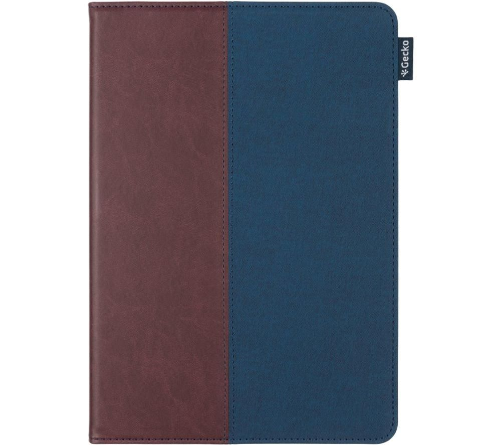 """GECKO COVERS Easy-Click 10.2"""" iPad Folio Case – Blue & Brown, Blue"""