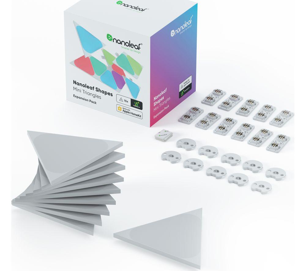 NANOLEAF Shapes Mini Triangle Smart Lights Expansion - Pack of 10
