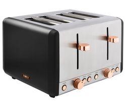 Cavaletto T20051RG 4-Slice Toaster - Black & Rose Gold