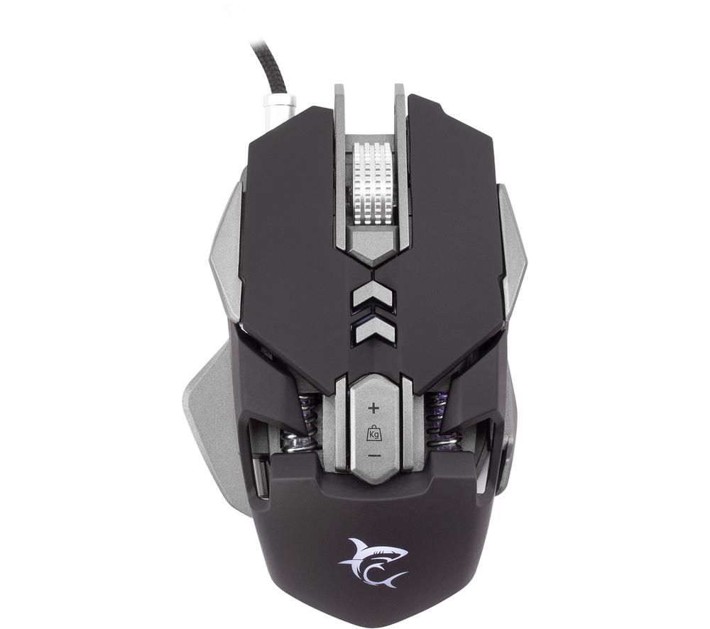 Image of WHITE SHARK GM-5001 SHAKA ZULU Optical Gaming Mouse, White