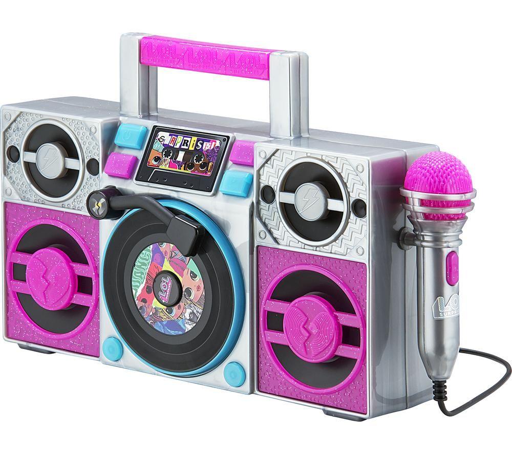 EKIDS LOL Surprise! Remix LL-115 Sing-Along Boombox - Silver & Purple, Silver