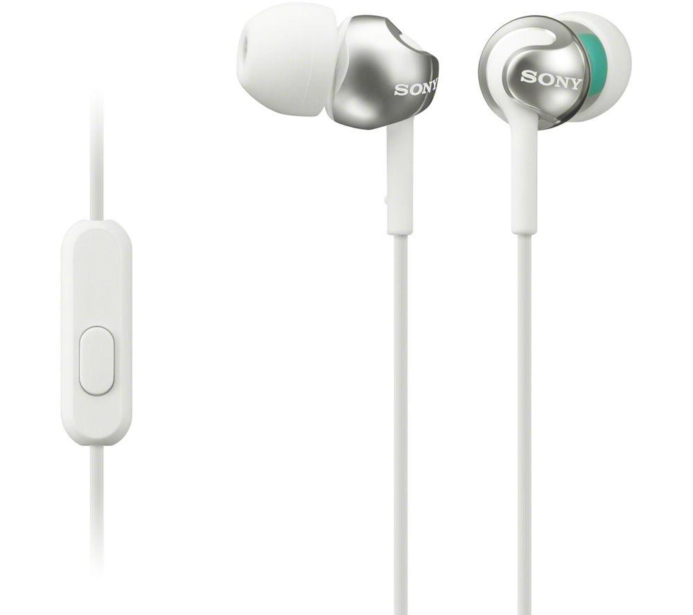 SONY MDR-EX110APW Headphones - White