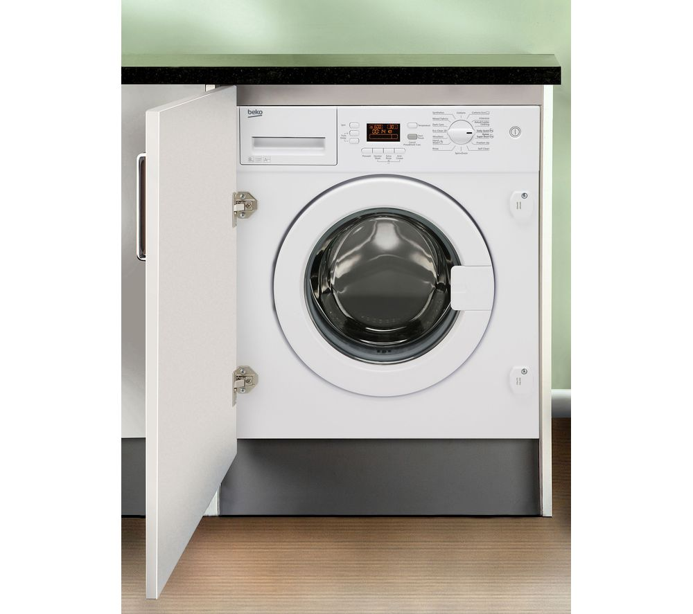 BEKO Select Wi1483 Integrated Washing Machine - White + Select BCE772F Integrated 70/30 Fridge Freezer