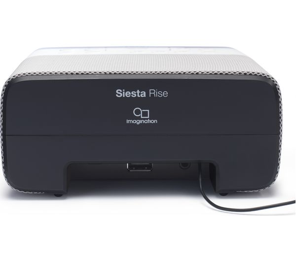 pure siesta rise dab fm clock radio white grey deals pc world. Black Bedroom Furniture Sets. Home Design Ideas