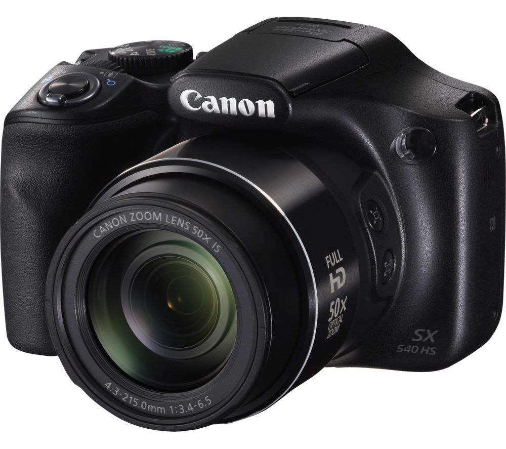 CANON PowerShot SX540 HS Bridge Camera - Black + TLZ 20 Format Toploader DSLR Camera Bag - Black