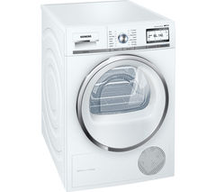 SIEMENS WT4HY790GB Heat Pump Smart Tumble Dryer - White