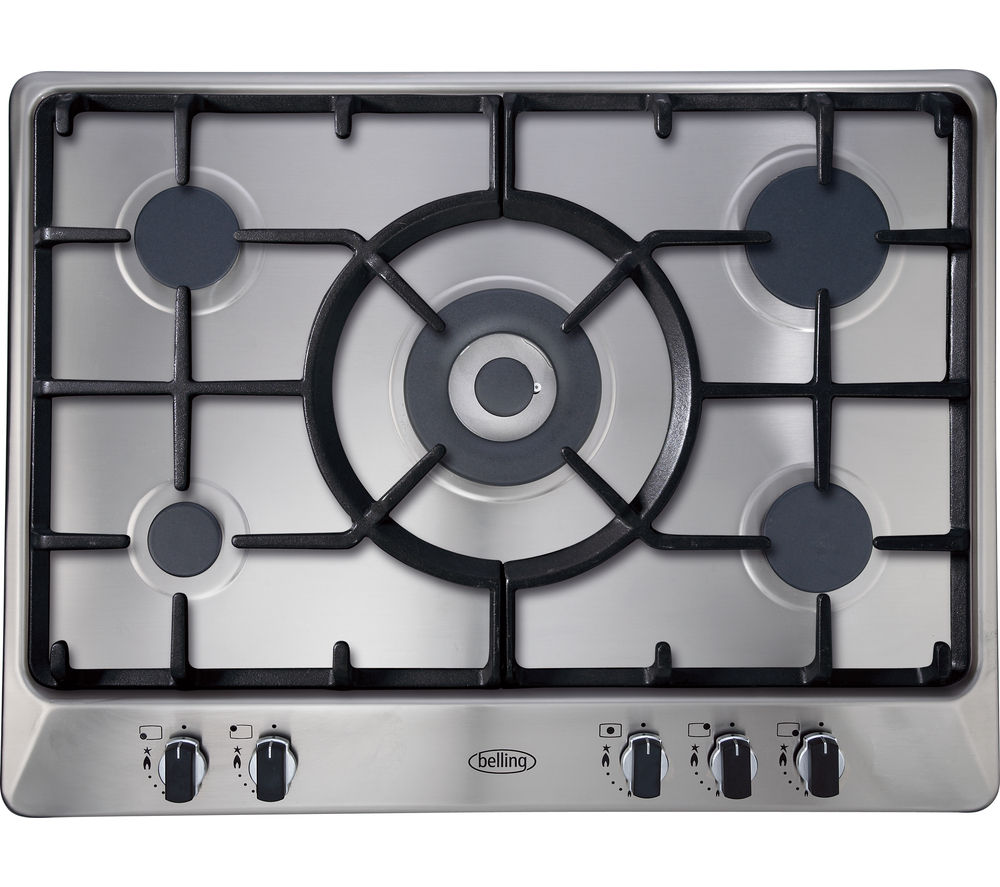 BELLING GHU70GC Gas Hob - Stainless Steel