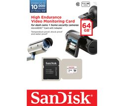 SANDISK High Endurance Video Monitoring Memory Card - 64 GB