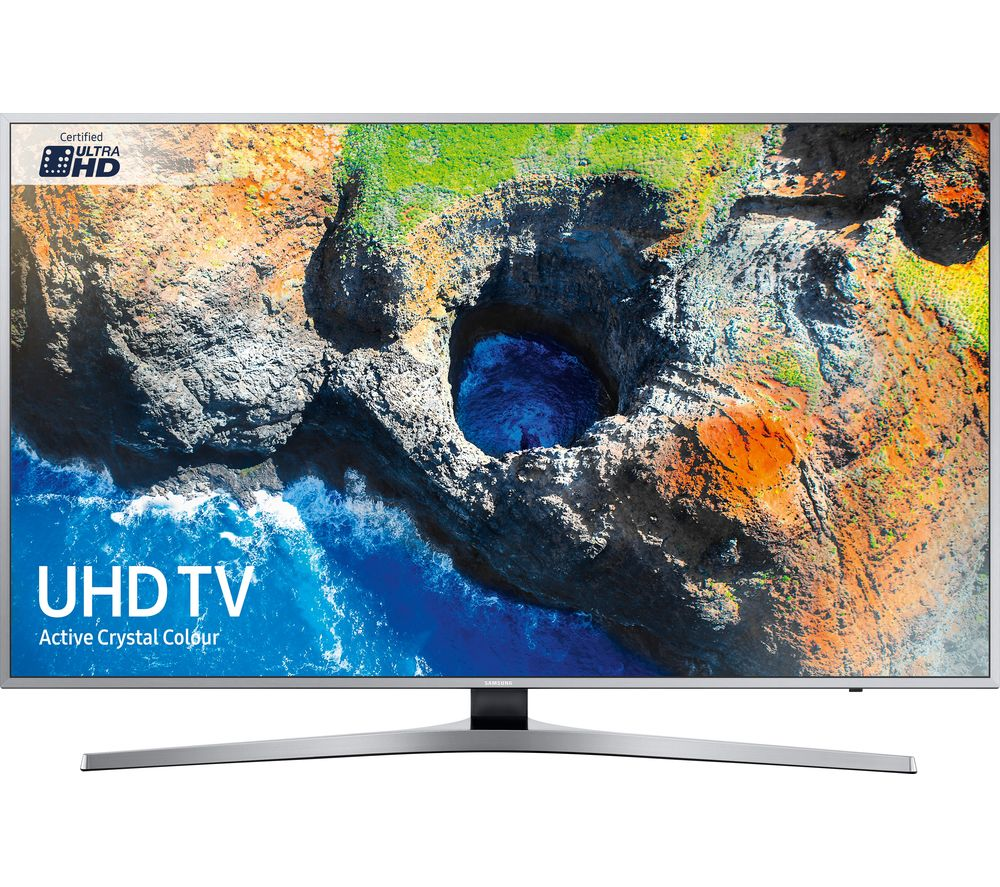 "SAMSUNG UE49MU6400U 49"" Smart 4K Ultra HD HDR LED TV + S1HDM315 HDMI Cable with Ethernet - 1 m"