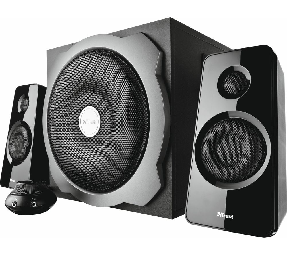 buy trust tytan 2 1 pc speakers free delivery currys