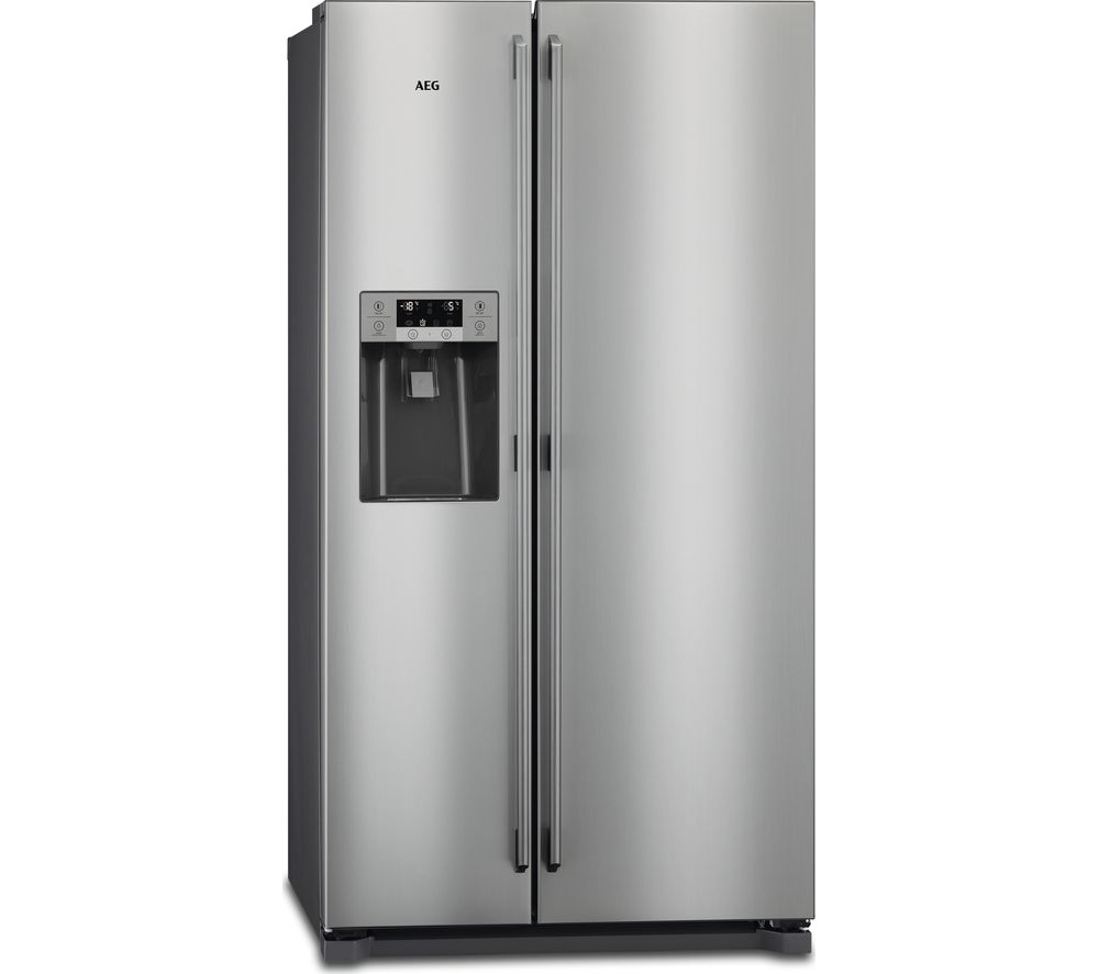 AEG RMB76111NX American-Style Fridge Freezer - Grey & Stainless Steel