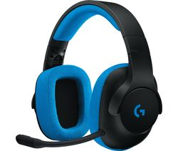 LOGITECH G233 Prodigy 2.0 Gaming Headset - Blue & Black