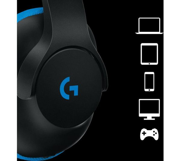 c1359f2a819 LOGITECH G233 Prodigy 2.0 Gaming Headset - Blue & Black Deals | PC World
