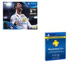 SONY PlayStation 4 Slim, FIFA 18 & PlayStation Plus 3 Month Subscription Bundle