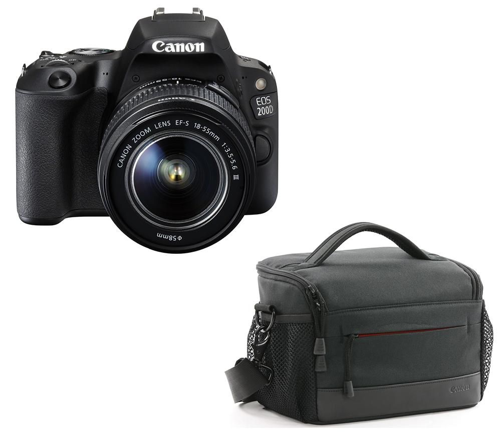 CANON EOS 200D DSLR Camera, 18-55 mm DC Lens, 50 mm STM Lens & Bag Bundle