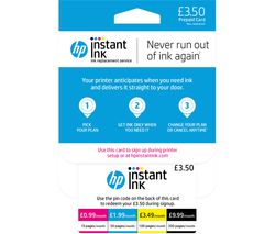 HP Instant Ink £3.50 Prepaid Card