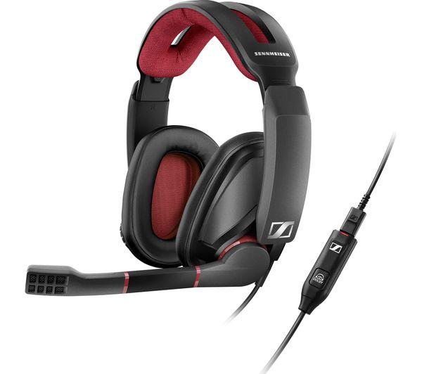 buy sennheiser pc 373d 7 1 gaming headset black free delivery currys. Black Bedroom Furniture Sets. Home Design Ideas