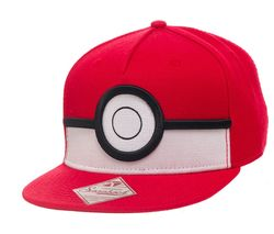 NINTENDO 3D Poké Ball Snapback Cap - Red & White