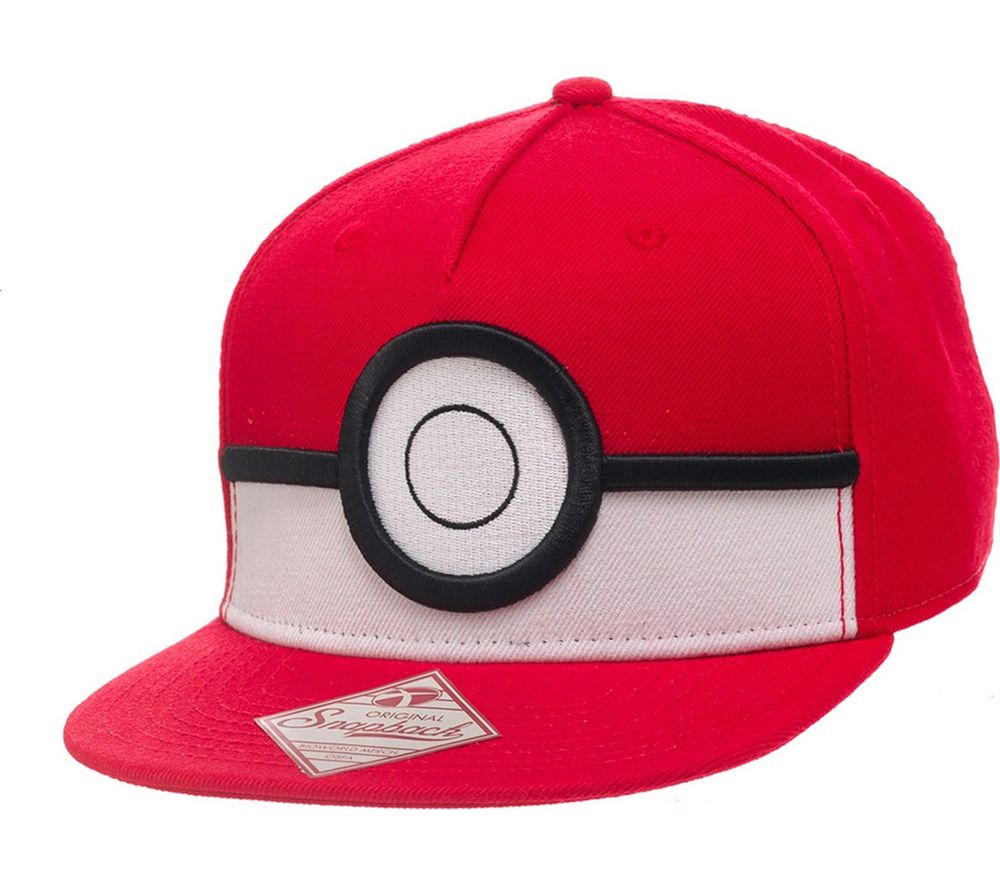 Compare prices for Pokemon 3D Poke Ball Snapback Cap - Red