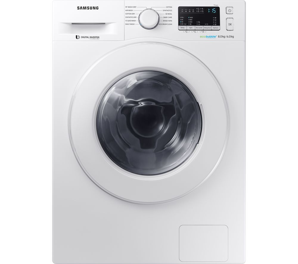 Buy SAMSUNG WD80M4B53IW/EU 8 kg Washer Dryer - White | Free Delivery