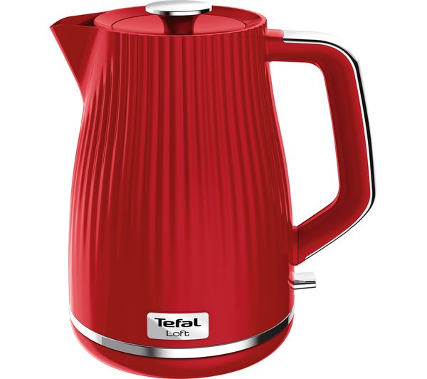 Image of TEFAL Loft KO250540 Rapid Boil Traditional Kettle - Cherry Red