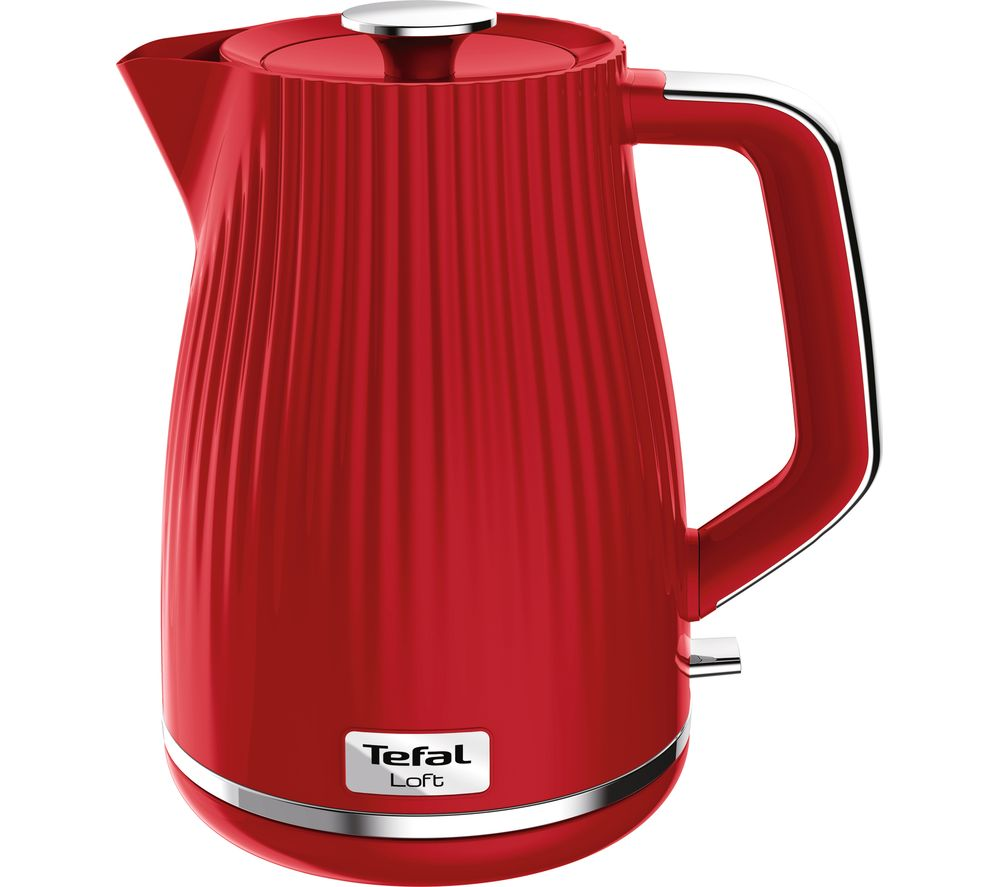 TEFAL Loft KO250540 Rapid Boil Traditional Kettle - Cherry Red