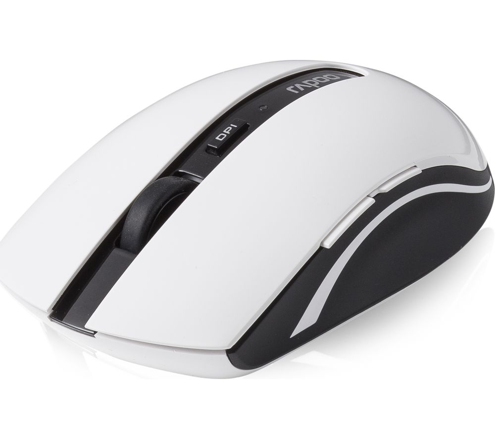 Image of RAPOO 7200P Wireless Optical Mouse - White, White