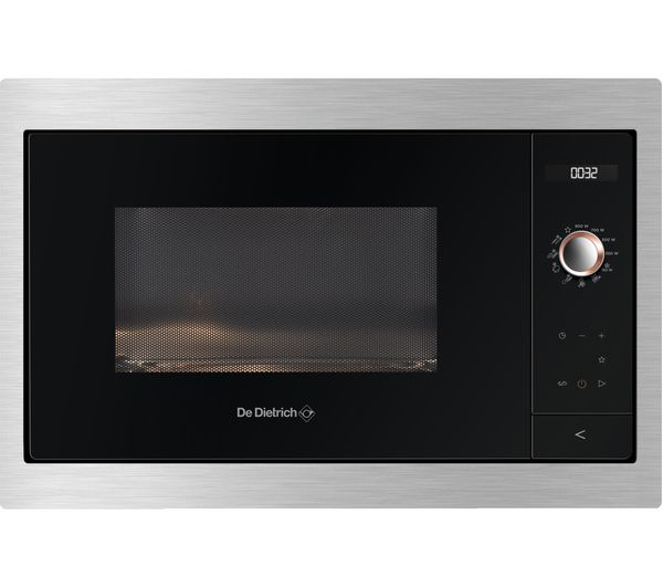 Image of DE DIETRICH DME7121X Built-in Compact Solo Microwave - Black & Silver