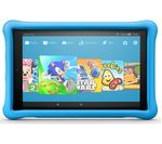 £200, AMAZON Fire HD 10 Kids Edition Tablet (2018) - 32 GB, Blue, Fire OS 5, Full HD display, Store up to 6 hours of HD video / up to 7500 photos, Battery life: Up to 11 hours, microSD card reader,
