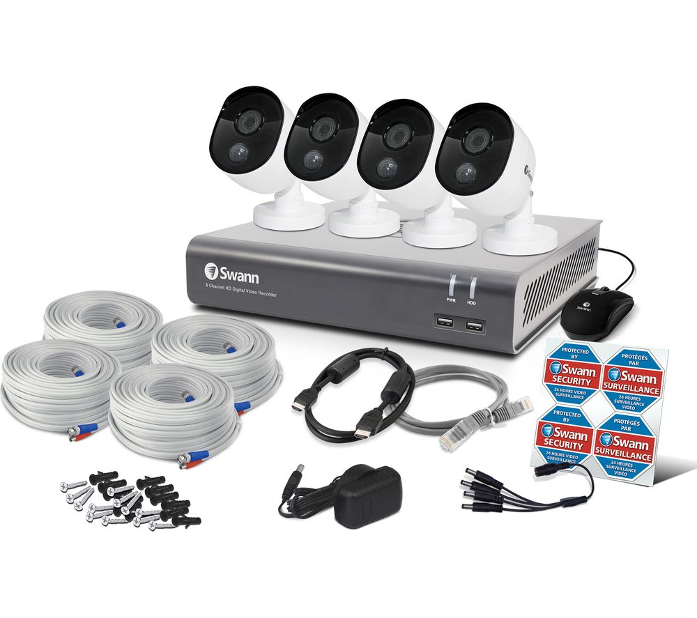 SWANN SWDVK-845804V-UK 8-Channel Full HD 1080p Smart Security System - 1 TB, 4 Cameras
