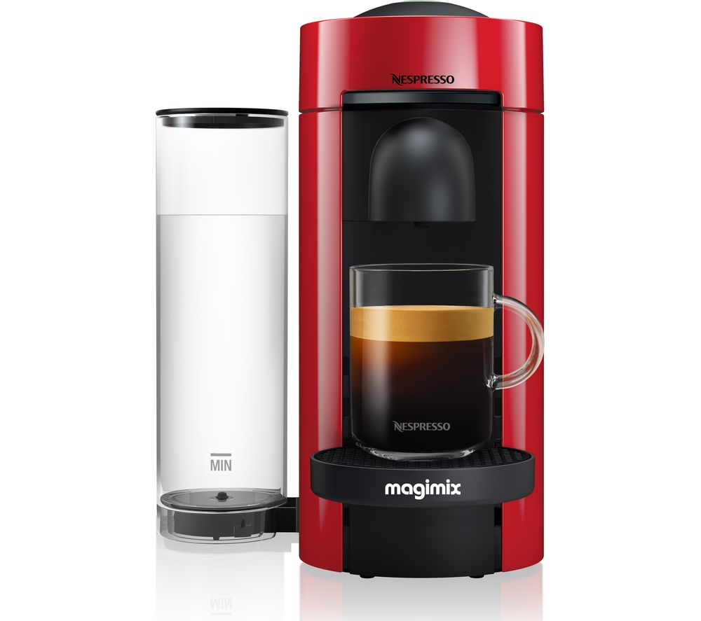 NESPRESSO by Magimix Vertuo Plus M600 Coffee Machine - Piano Red