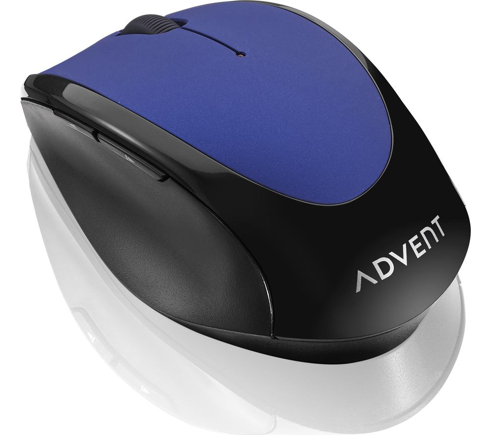 Image of ADVENT AMWLBL19 Wireless Optical Mouse - Blue & Black, Blue