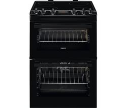 ZANUSSI ZCV66250BA 60 cm Electric Ceramic Cooker - Black Best Price, Cheapest Prices