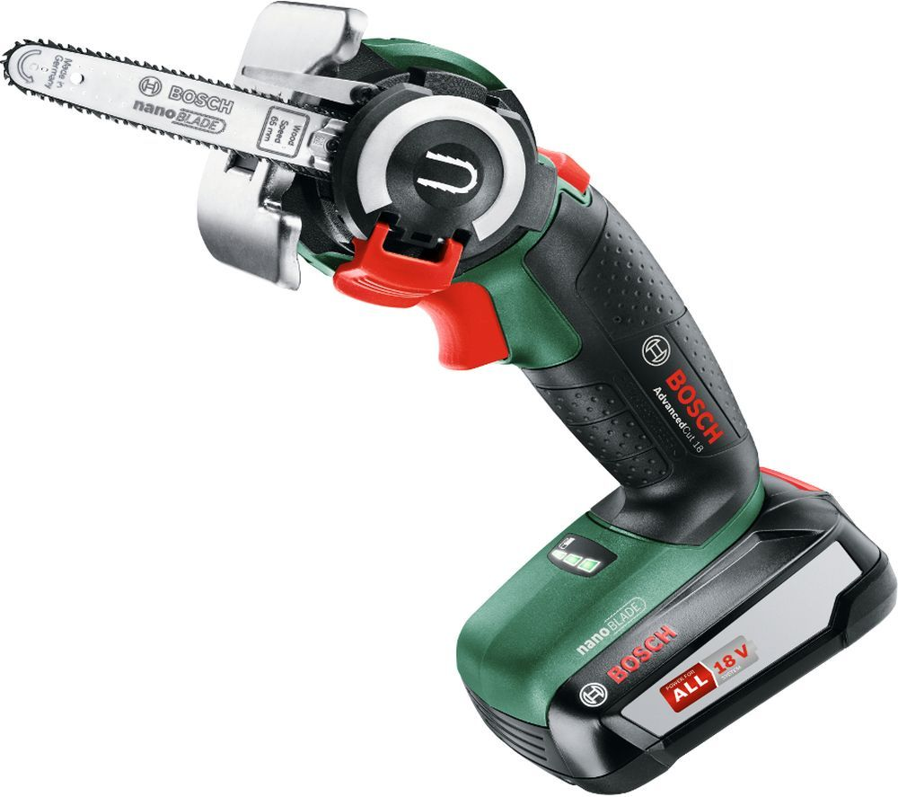 Image of BOSCH AdvancedCut 18 Cordless NanoBlade Saw - Green, Green