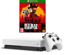 MICROSOFT Xbox One X White with Red Dead Redemption 2
