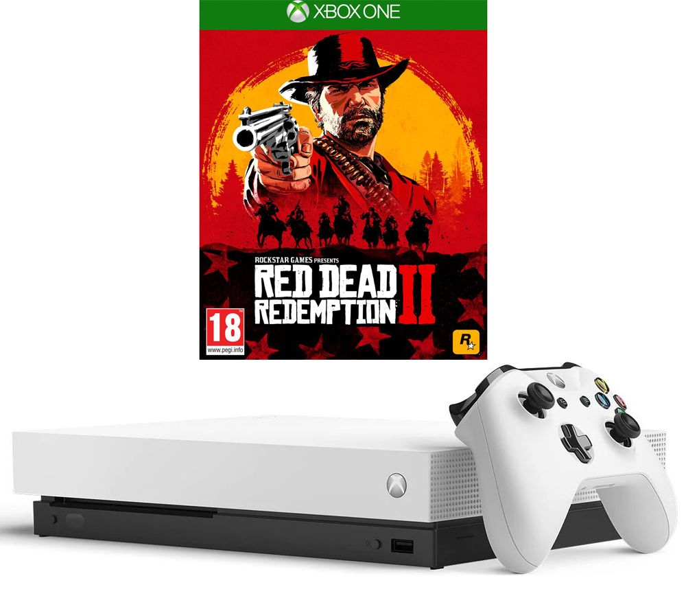 MICROSOFT?Xbox One X White with Red Dead Redemption 2
