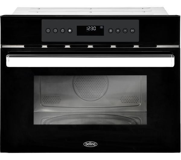Image of BELLING BI45COMW Built-in Compact Combination Microwave - Black