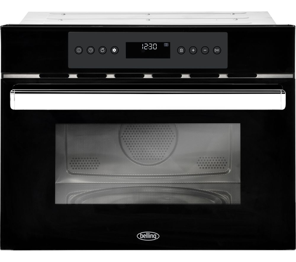 BELLING BI45COMW Built-in Compact Combination Microwave - Black, Black