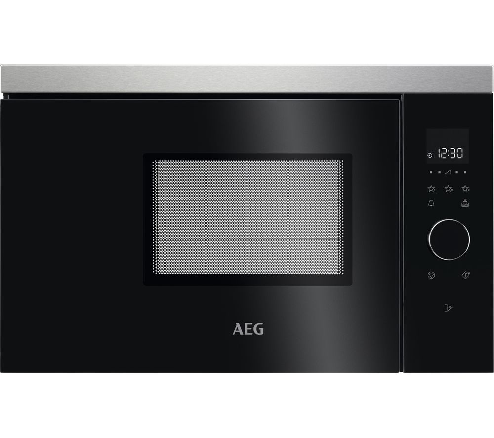 AEG MBB1756SEM Built-in Solo Microwave - Black & Stainless Steel, Stainless Steel