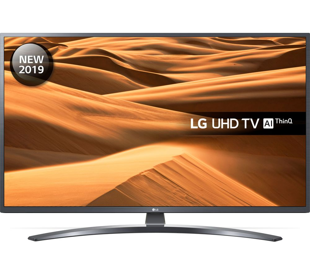 LG 43UM7400PLB (2019) LED HDR 4K Ultra HD Smart TV, 43 with Freeview Play/Freesat HD, Ultra HD Certified, Dark Iron Grey