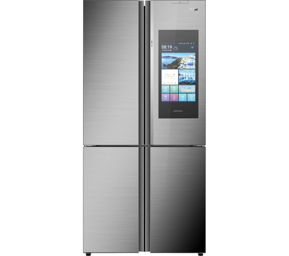 Haier HTF-552DGS6U1 Wifi Connected American Fridge Freezer - Stainless Steel / Glass - A+ Rated