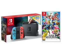 NINTENDO Switch Neon with eShop Credit - £30