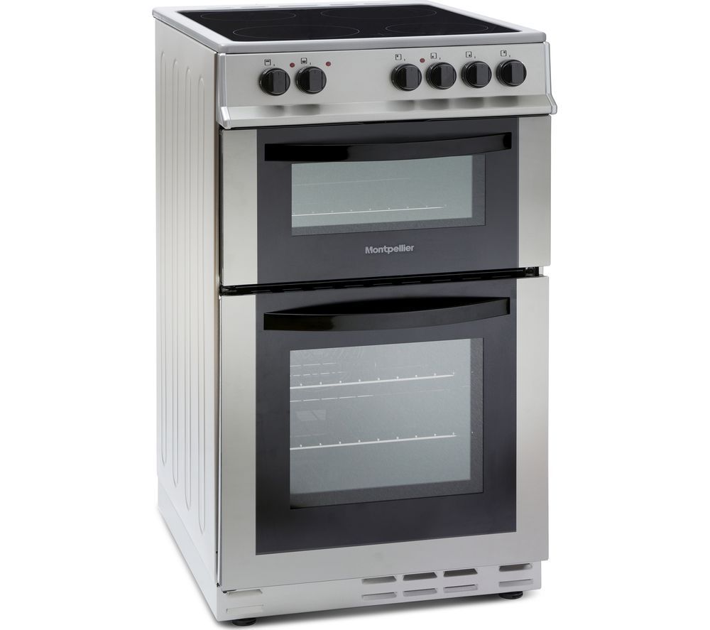MONTPELLIER MDC500FS 50 cm Electric Ceramic Cooker - Silver