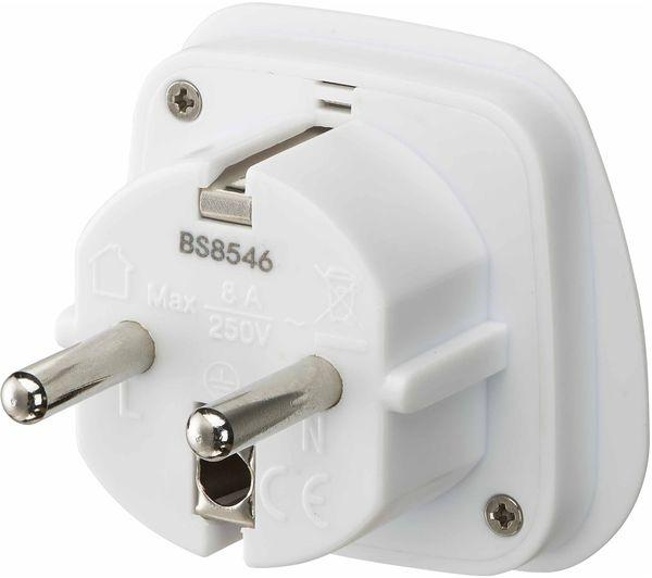 Image of LOGIK LUKEU20 UK to EU Travel Plug Adapter - Pack of 2