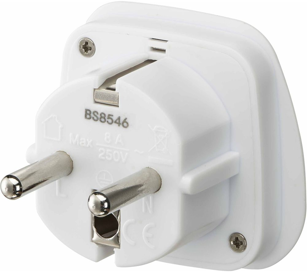 LOGIK LUKEU20 UK to EU Travel Plug Adapter - Pack of 2