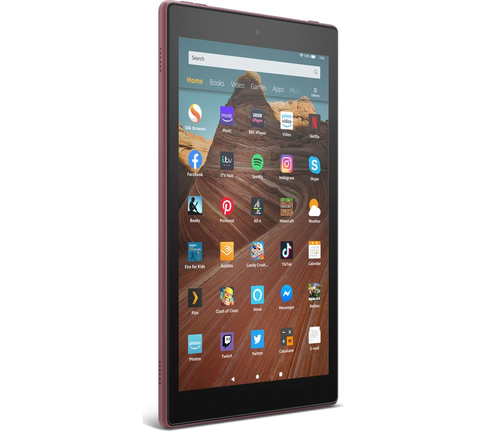 Image of AMAZON Fire HD 10 Tablet (2019) - 32 GB, Plum, Plum