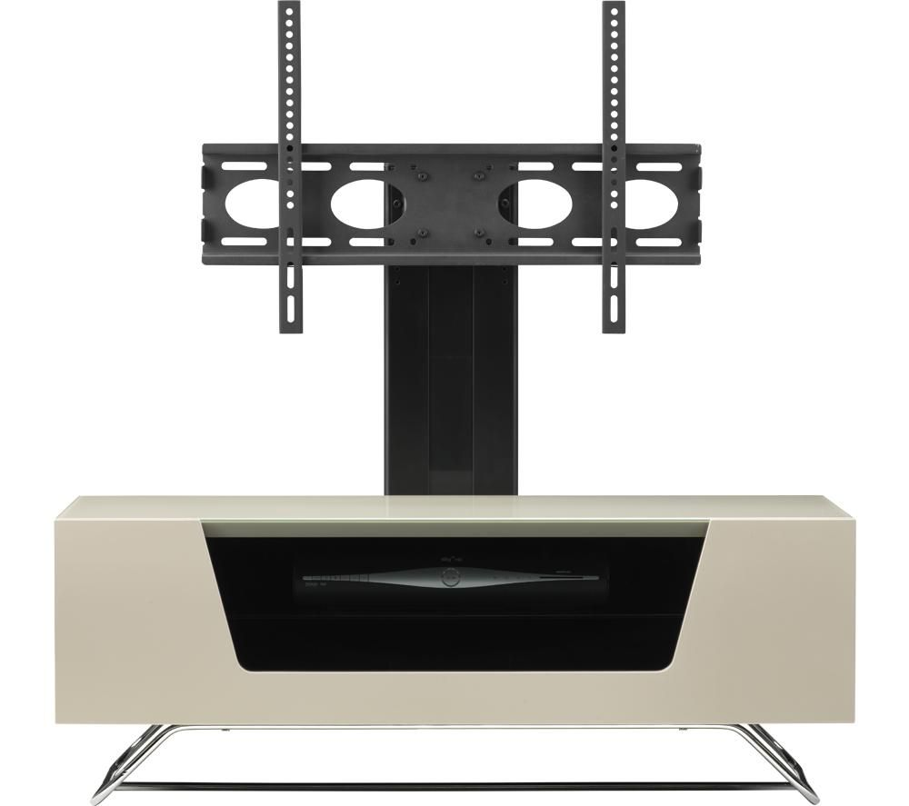 ALPHASON Chromium 2 Cantilever CRO2-1000BKT-IV 1000 mm TV Stand with Bracket - Ivory