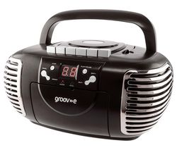 GROOV-E Retro GV-PS813 Boombox - Black